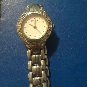 Silver pulsar watch vintage 90s